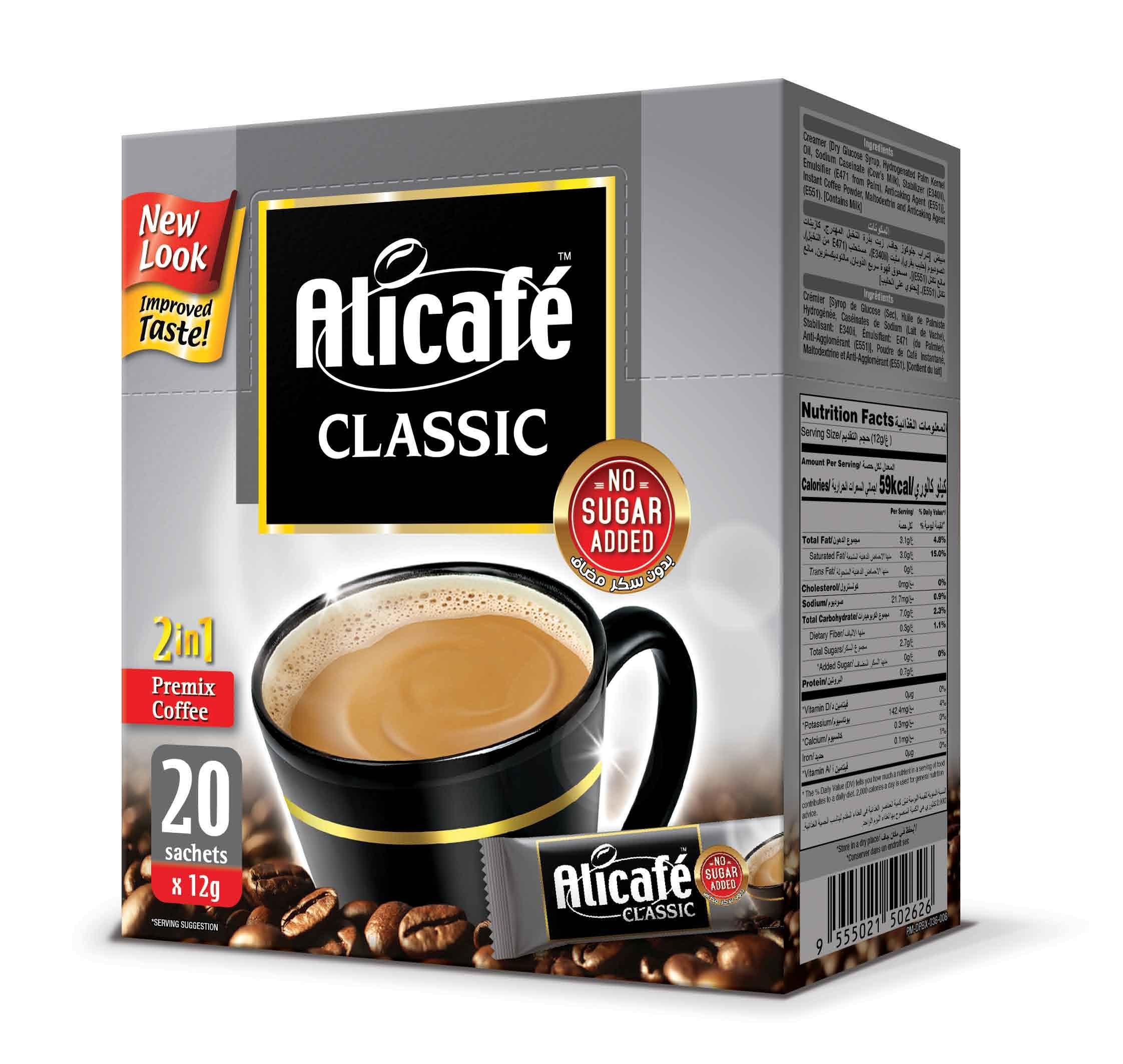 Alicafé Classic 2in1 Sugar Free